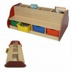 Banco librería escolar doble 8 niños. Con 8 cubetas (4 a cada lado) bajo el asiento para que los niños puedan guardar sus juegos. http://www.segurbaby.com/es/180346/banco-libreria-escolar-doble-8-ninos.htm