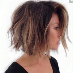 Making Balayage on some short hair can seem to be tricky. Contrasting with a long hair, the position of the precision and highlights becomes very vital. However, if done properly, there are some short styles that could hit the balayage… Continue Reading → Medium Hair Styles, Short Hair Styles, Cute Short Hair, Short Thick Hair, Color For Short Hair, Short Hair Cuts For Women Bob, Hair Color Ideas For Brunettes Short, Bob Hair Color, Hair Medium