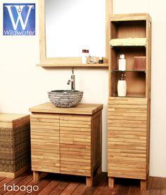 Tabago, Une gamme de meuble de salle de bain en teck conçu pour les petits espaces