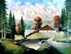 Cabană în munți
