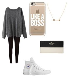 """""""School Outfit #10"""" by alexandrafashion11 on Polyvore featuring Casetify, Kate Spade, Converse, Jennifer Zeuner and BackToSchool"""