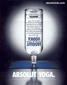 Absolut Yoga ad by Absolut Vodka.