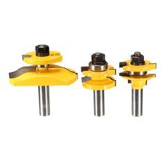 Drillpro RB19 herramienta de la carpintería del pedacito del ranurador de la caña de 3 pulgadas 1/2 pulgada