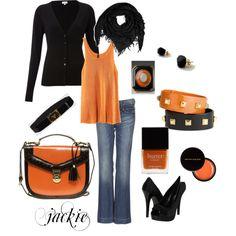 Orange and Black - Halloween Chic