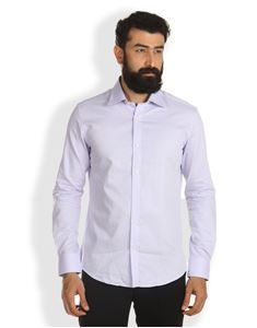 Buy Lavender Small Check Formal Full Sleeve shirt available at ThomasScott.in