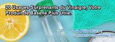 Bien sûr qu'il a ses avantages en cuisine, mais le vinaigre blanc peut aussi s'utiliser dans toute la maison, pour le ménage et bien plus. Il suffit juste de connaître ces 20 façons de l'utiliser.  Découvrez l'astuce ici : http://www.comment-economiser.fr/20-facons-utiliser-vinaigre.html?utm_content=bufferb7031&utm_medium=social&utm_source=pinterest.com&utm_campaign=buffer