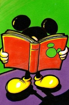 Mickey's got his nose in a book!