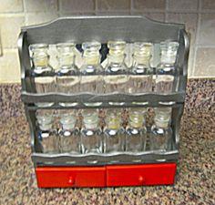 Vintage reburbished spice set for sale at More Than McCoy on TIAS