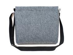 Laptop bag felt crossbody bag MacBook messenger by GopherHandmade