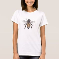Apis mellifera - Honey Bee T-Shirt - click/tap to personalize and buy Custom Clothes, Custom Shirts, Personalized T Shirts, T Shirts With Sayings, Shirt Outfit, Shirt Style, Your Style, Shirt Designs, Funny Quotes