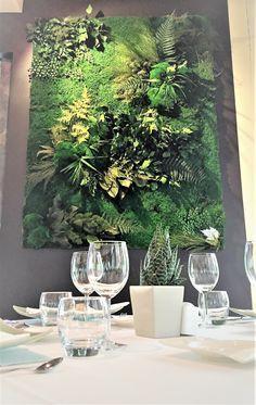 Mur Végétal stabilisé // Restaurant gastronomique L'Hoirie - Beaucouzé #vegetal #indoor #restaurant #l'Hoirie #beaucouzé