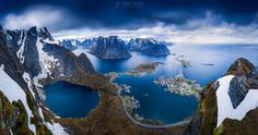 """The classic view from Reinebringen, Lofoten. This is a panorama of three 60s exposures. I actually really liked the cold blue hue the Big Stopper produces and decided to leave it as it is.  See my website for more: <a href=""""http://www.jkahilaphotography.com"""">www.jkahilaphotography.com</a>"""
