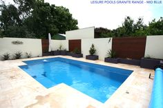 Leisure Pools is one of the largest Fibreglass Swimming Pool Manufacturers in the World. Swimming Pool Enclosures, Swimming Pool Pond, Swimming Pool Designs, Pool Decks, Fiberglass Pool Cost, Fiberglass Swimming Pools, Pool Pavers, Pool Landscaping, Pool Fence