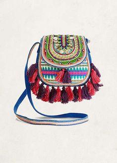 JNEENAH Crossbody Tassel Crossbody Bag