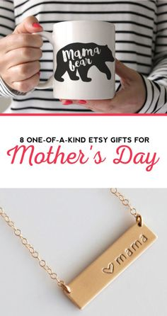 """Looking for a last minute gift for Mom on Mother's Day? Well, look no more. We've curated eight of the cutest, more adorable gifts on Etsy guaranteed to make Mom say, """"Awwww!"""""""