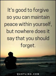 Forgiveness Quotes It's good to forgive so you can maintain peace within yourself