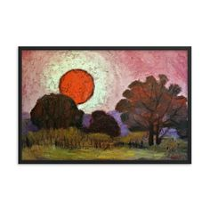 Bartos Art Framed Poster: SUNSET, Create a unique and personalized Ambiance in your Home and Office Canvas Art, Canvas Prints, Original Paintings, Oil Paintings, Photo Quality, Timeless Beauty, Framed Art, Alternative, Scene