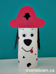 fire safety crafts for preschool Daycare Crafts, Dog Crafts, Animal Crafts, Toddler Crafts, Projects For Kids, Crafts For Kids, Arts And Crafts, Fire Safety Crafts, October Crafts