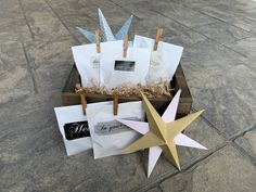 These cute little paper bags are filled with candy, as a favor for party or wedding guests.