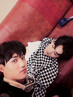 Exo Baek and Jongin #EXO #Baekhyun #Kai #Jongin