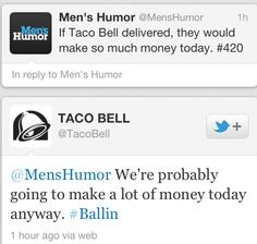 Taco bell on 4/20