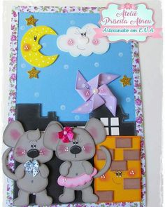 Foam Crafts, Diy And Crafts, Crafts For Kids, Arts And Crafts, Paper Punch Art, Decorate Notebook, Scrapbook Cards, Handicraft, Paper Dolls