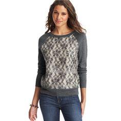 Lace-Front Sweater - Oprah.com