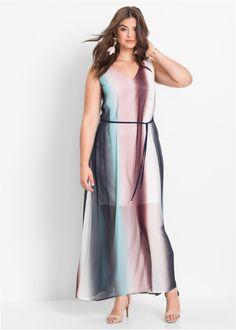 Chiffon-Maxikleid mit Farbverlauf rosa/dunkelblau/polarmint - BODYFLIRT jetzt im Online Shop von bonprix.de ab ? 53,99 bestellen. Aufregendes ...