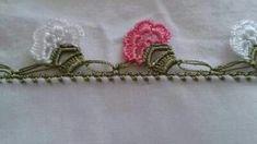 Tığ İşi Çiçek Ve Kurdele Süslemeli Kloş Etekli Kolay Çocuk Jile Yapımı. 2 .3 yaş – Örgü resimli anlatımlı örgü sitesi Baby Knitting Patterns, Tatting, Diy And Crafts, Cross Stitch, Crochet Stitches, Tricot, Craft, Border Tiles, Hand Embroidery