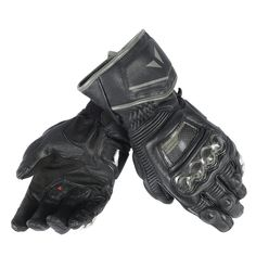 Dainese Race Pro In Adult Cowhide Leather Gloves, Black/Black/Black, Med/MD -- Awesome products selected by Anna Churchill Leather Motorcycle Gloves, Black Leather Gloves, Motorcycle Bike, Leather Men, Motorcycle Equipment, Leather Jacket, Gauntlet Gloves, Long Gloves, Men's Gloves