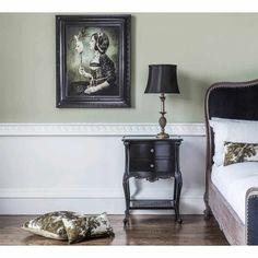 Sassy Boo 2-Drawer Black Bedside Table | Bedside Table - Black French Bedroom Furniture