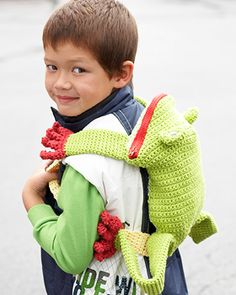 Lily Sugar n Cream - Frog Backpack (free crochet pattern)