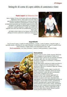 """La Ricetta di oggi 29 Giugno dall'archivio di Ricette 3.0 di spaghettitaliani.com - Intingolo di carne di capra adulta al cannonau e timo ( Secondi - Agnello, montone ) inserita da Paolo Lepori - La ricetta si trova anche nel Libro """"Una Ricetta al Giorno... ...leva il medico di torno"""" prodotto dall'Associazione Spaghettitaliani, per acquistarlo: http://www.spaghettitaliani.com/Ricette2013/PrenotaLibro.php"""