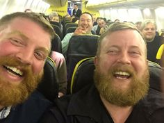 #DoppelGanger  Airplane Passenger Is Seated Right Next to a Stranger Who Looks Exactly Like Him - My Modern Met