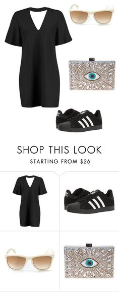 """Untitled #468"" by nikkirozaye on Polyvore featuring Boohoo, adidas, Versace and GEDEBE"