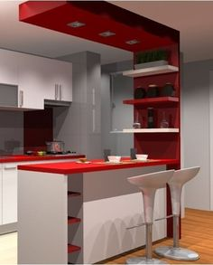 30 Styles Perfect for Your Tiny Kitchen Kitchen Room Design, Modern Kitchen Design, Home Decor Kitchen, Interior Design Kitchen, Diy Kitchen, Home Kitchens, Kitchen Colors, Kitchen Ideas, Modern Design
