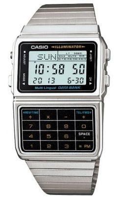 Casio #DBC611-1D Mens Silver Tone 25 Memory Calculator Databank Watch