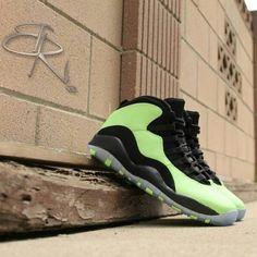 "Air Jordan Retro10 ""Sour Apple"" Customs by B Riverz - sneakerfiles.com"