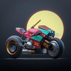 Best of Blender Artists: week 3 - BlenderNation Futuristic Motorcycle, Motorcycle Art, Futuristic Cars, Concept Motorcycles, Racing Motorcycles, Car Design Sketch, Spiderman Art, Bike Design, 3d Design