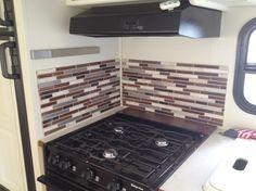 Installing Smart Tiles In Rv Kitchen