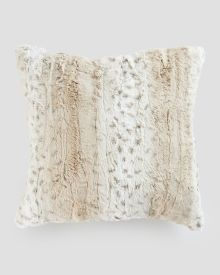 "Marbled Faux Fur Decorative Pillow 19"" x 19"""