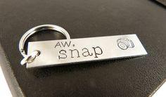 Aw Snap - Photography - Camera - Aluminum Key Chain
