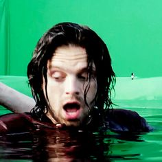 Soaking wet Seb is exactly what I need in my life