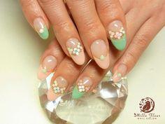 #nail #unhas #unha #nails #unhasdecoradas #nailart #gorgeous #fashion #stylish #lindo #cool #cute #fofo #pastel #floral #flores #flowers