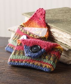 Great project to use up small yarn scraps. How to Knit – 45 Free and Easy Knitting Patterns