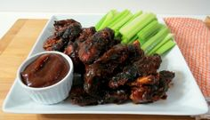 Grilled Sweet & Spicy Chicken Wings. These were sooo good.  They disappeared quickly & the Family loved them.