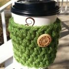Chunky Crochet Coozie Crochet Cozy, Chunky Crochet, Yarn Projects, Crochet Projects, Little Stitch, Craft Markets, Stitch Design, Crochet Patterns, Crochet Ideas