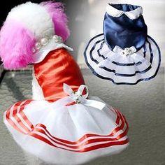 Princess Stripe Bow Tutu Dress