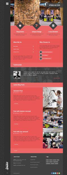 Spider – WordPress Theme http://flattrendz.com/flat-design-gallery/spider-wordpress-theme/