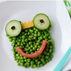 Food art with peas